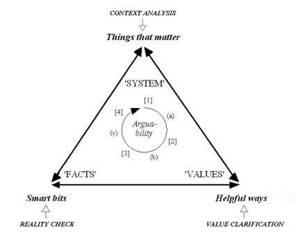 Exemplary uses of CSH and TSI/CH in the argumentative triangle