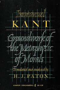 Cover of H.J. Paton's translation of Kant's 'Groundwork'