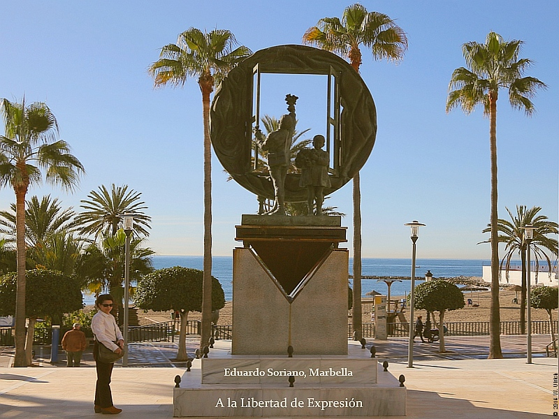 Marbella's Freedom of Expression monument