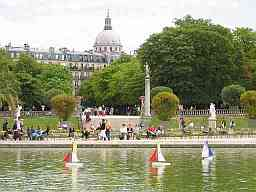 The Luxembourg Gardens with the Panthéon in the background