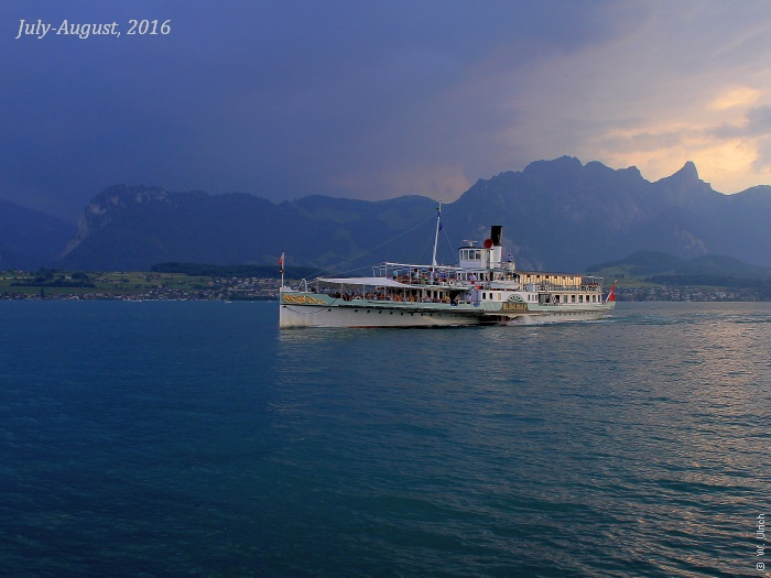 Steamboat on stormy Lake Thun - balancing technical and contextual competence
