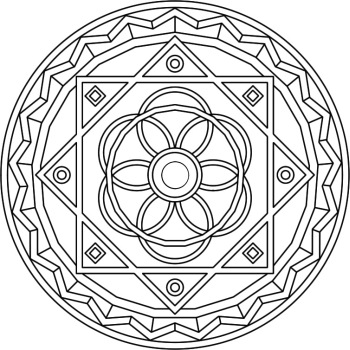 Typical mandala design