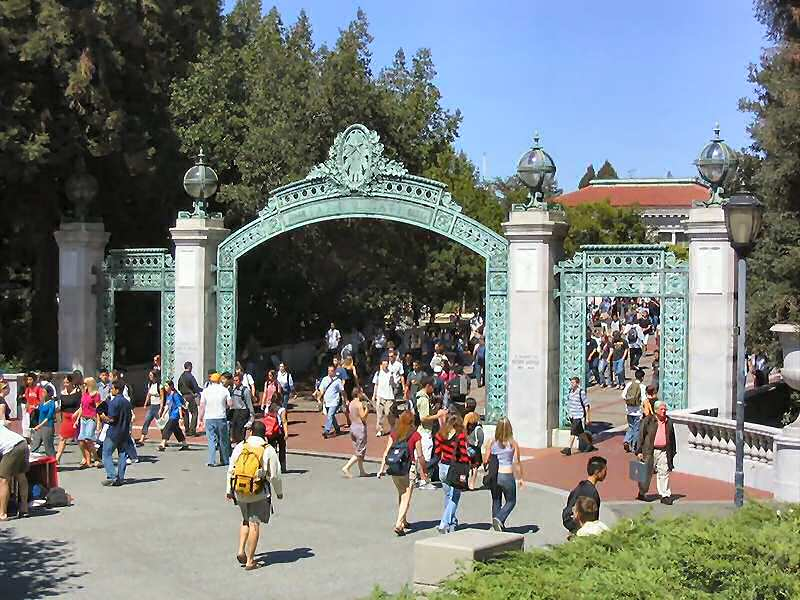 "March 2006 - Open doors for scholarship: ""Sather Gate,"" main entry to the University of California, Berkeley campus"
