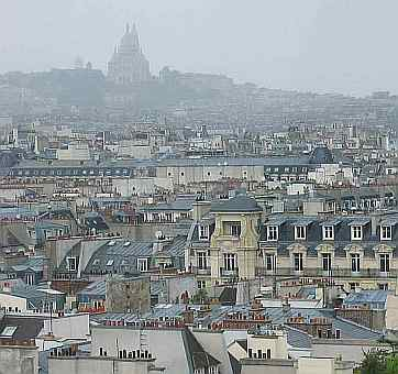 Montmartre with Sacré Coeur as seen from the Centre Pompidou