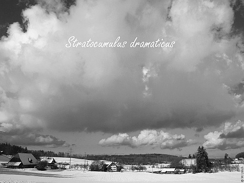 Winter skies can be dramatic, especially in black and white (click to enlarge)